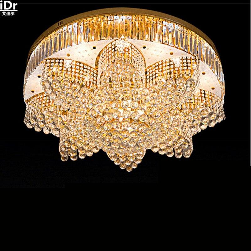 Moderne Wohnzimmer Lampe Kristall Schlafzimmer Beleuchtung Restaurant Lichter Runde Gold Deckenleuchten Lmy 0168