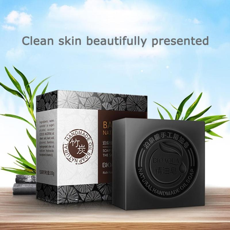 BIOAQUA Essential Oil Handmade Soap Natural Organic Whitening Rose Soap Skin Remove Acne Deep Cleansing Face Clearner