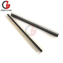 5Pcs Double Row Pria Pin Header 40Pin 2.54 Mm Pecah Lurus Pin Strip Pita JST CONNECTOR UNTUK ARDUINO(China)