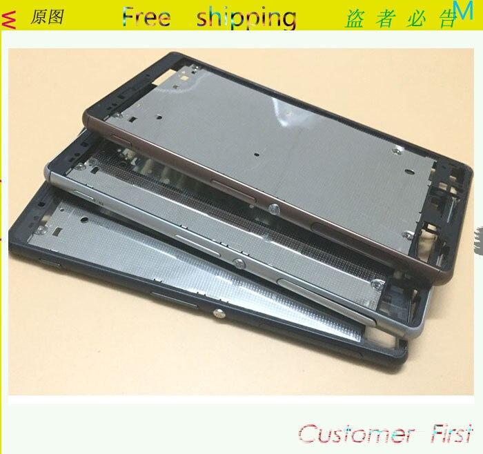 imágenes para LCD frontal Marco Medio Bisel Cubierta de la cubierta Para Sony Xperia Z3 D6633 (Z3 Tarjeta Dual)/Botones laterales/Enchufe Lado