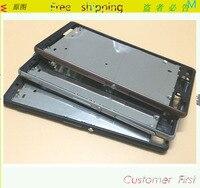 Przedni LCD Ramka Bliski Bezel Obudowa Pokrywy Skrzynka Dla Sony Xperia Z3 D6633 (Z3 Podwójna Karta)/boczne Przyciski/Side Wtyczki