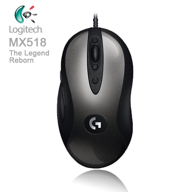 Logitech Légendaire Gaming Mouse MX518 avec HERO 1.6 k DPI Optique 400 IPS Classique Fièvre Niveau Souris pour l'utilisateur de pouvoir légende Reborn