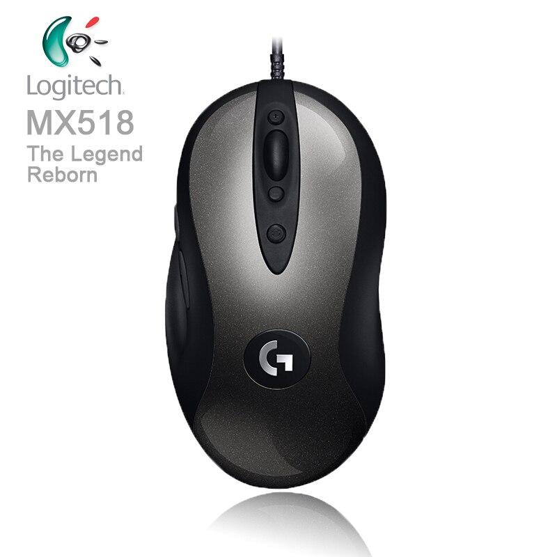 Logitech Leggendario Mouse Da Gioco MX518 con HERO 1.6 k DPI Ottico 400 IPS Classico Livello Febbre Mouse per utente di alimentazione legend Reborn