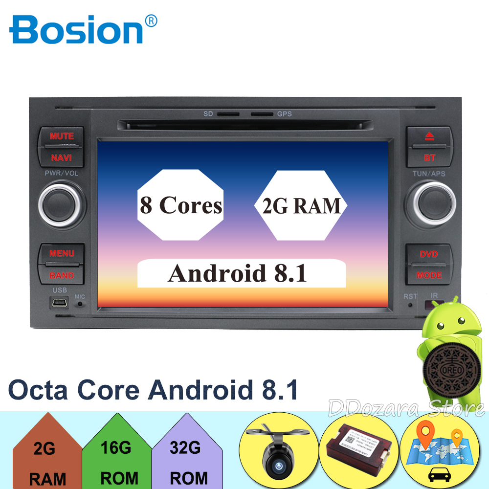 Android 8.1 Octa core 2Din 7 Inch Car DVD for FORD FOCUS 2005 2006 2007 Galaxy Transit With Radio GPS 1080P car dvd focus cameraAndroid 8.1 Octa core 2Din 7 Inch Car DVD for FORD FOCUS 2005 2006 2007 Galaxy Transit With Radio GPS 1080P car dvd focus camera