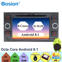 Android 8.1 Octa core 2Din 7 Inch Car DVD for FORD FOCUS 2005 2006 2007 Galaxy Transit With Radio GPS 1080P car dvd focus camera