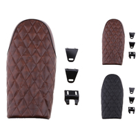 Flat Brat Style Tracker Cafe Racer Seat Saddle For Honda CG125 Durable High Quality & Soft Leatherette Removable mounting