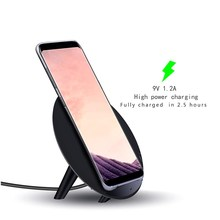 10 W cargador Inalámbrico Qi para samsung galaxy s8Plus s8 Teléfono de carga QI de Carga Inalámbrica Pad para S6 s7 S8 s7edge Note5 Standered