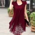 2016 new summer clothing women's dresses print chiffon maternity dresses pregnancy dresses matertniy clothing 16504