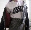 2015 женщины мужчины с коротким рукавом футболки хлопок Arctic monkeys письмо печати случайные футболки harajuku пара топы camisa feminina