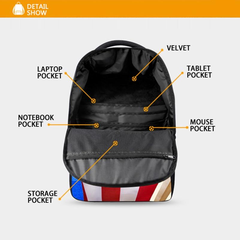 Animal lion imprimé sacs à dos pour adolescents sac d'ordinateur sacs d'école de mode pour les cartables primaires sac à dos de mode meilleur sac de livre - 6