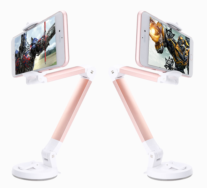 Alumnium Alloy Desk Mobile Phone Suction Car Holders Stands For Xiaomi Redmi Note 5 Pro,Blackview S8/S6,Doogee X53/X55,Leagoo Z7