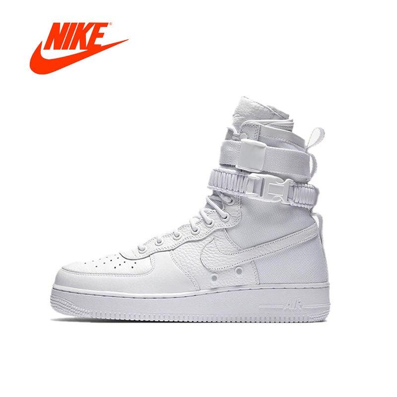 Original Nouvelle Arrivée Authentique Nike Spécial Domaine Air Force 1 Hommes de Planche À Roulettes Chaussures Sport Sneakers Tout Blanc 903270- 100