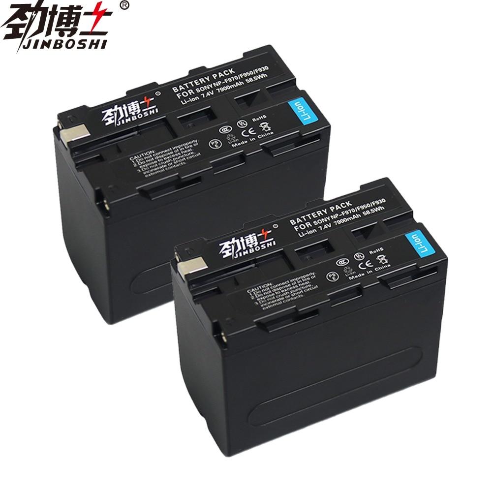 2 pièces NP-F970 Batterie rechargeable 7900 mAh NP F970 NPF970 batterie Appareil Photo pour SONY MC1500C 190 P 198 P F950 MC1000C TR516 TR555
