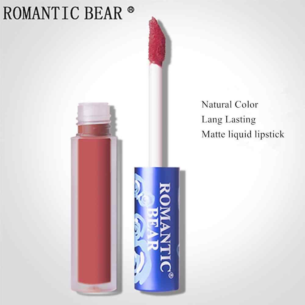 Romantis Bear Brand Makeup Lipstik Matte Batom Tahan Lama Labiales Rouge Yang Levre Mat Cair Membuat Matte Lip Stick