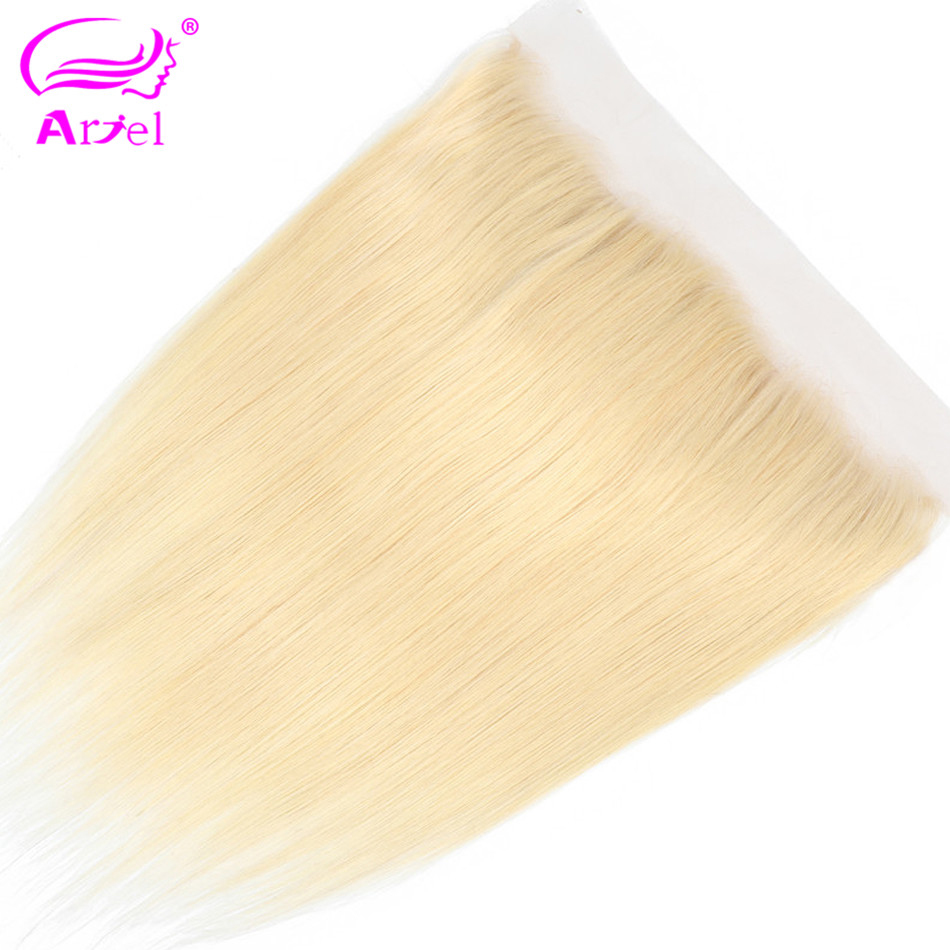Image 2 - Ariel 613 Straight Hair 13*4 Lace Frontal Closure Three/Middle/Free Part Malaysian Remy 613 Blonde Human Hair Closure 20 22 Inch-in Closures from Hair Extensions & Wigs