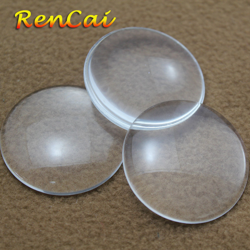 Freeshipping 500pcs Hot 20mm Round Flat Back Transparent Clear Glass Cabochon For DIY Charm Jewelry Making