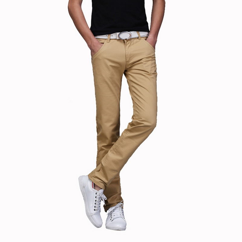 e32f48d10c5f ... Casual Men Pants Cotton Slim Pant Straight Trousers Fashion Classic  Business Solid Homme Bottoms. -5%. Click to enlarge