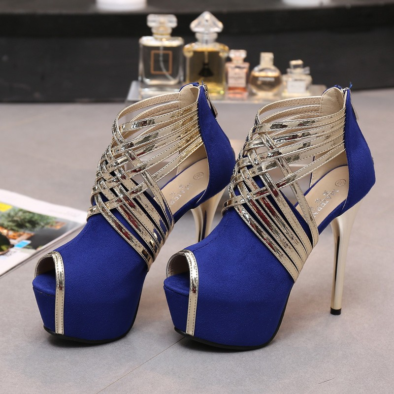 Big Size 34-44 Sexy Platform Lady's Open Toe Shoes 14cm Stiletto Heel Women Stage Prom Shoes Thin Heel Party/wedding Sandals 6