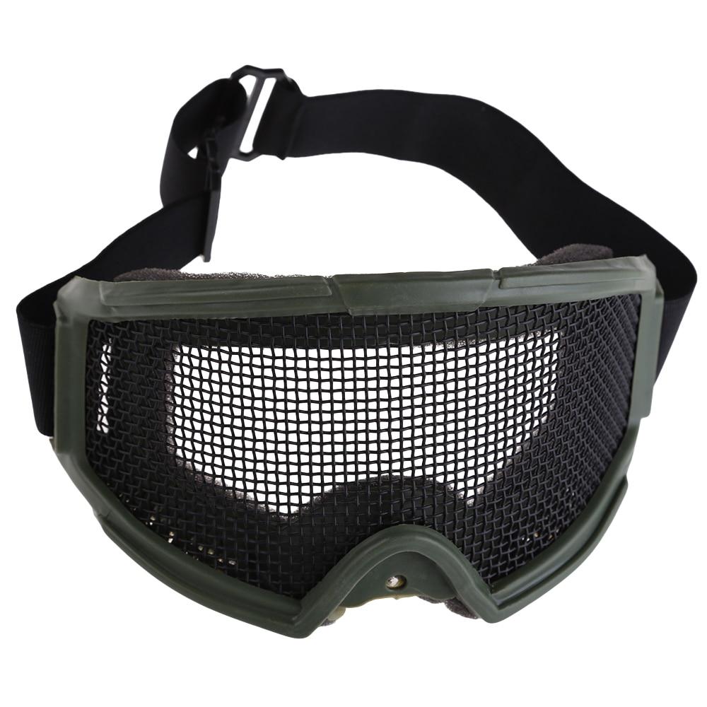 Prix pour Tactique de Chasse Lunettes Moto Airsoft Anti Brouillard Metal Mesh Sténopé Grand Lunettes Eye Protection des Lunettes gafas antivaho