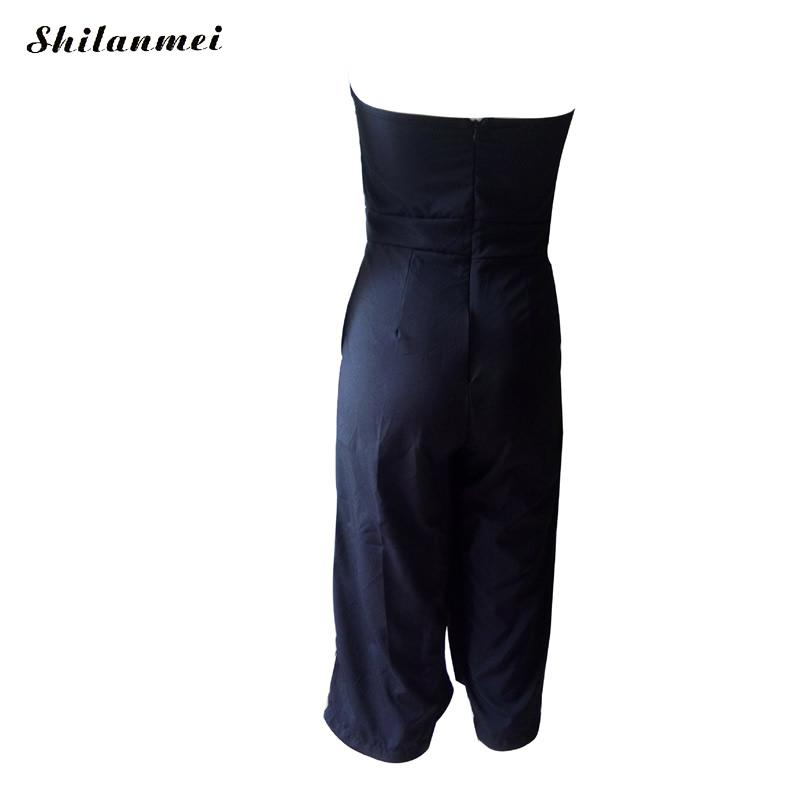 Gothic Women Jumpsuit Sexy backless off shoulder Rompers Women Fashion Bodycon Combinaison Femme Office Lady Club Overalls xl