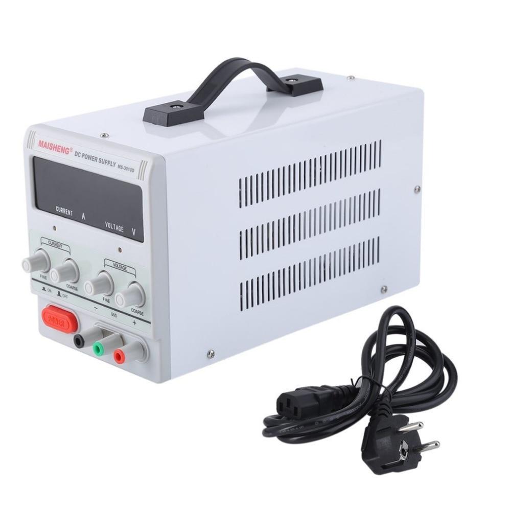 Test De Réparation Centre Double Affichage Numérique 30 V 10A Lab Année DC Alimentation Haute Précision Variable Réglable Pour Usine UE Plug
