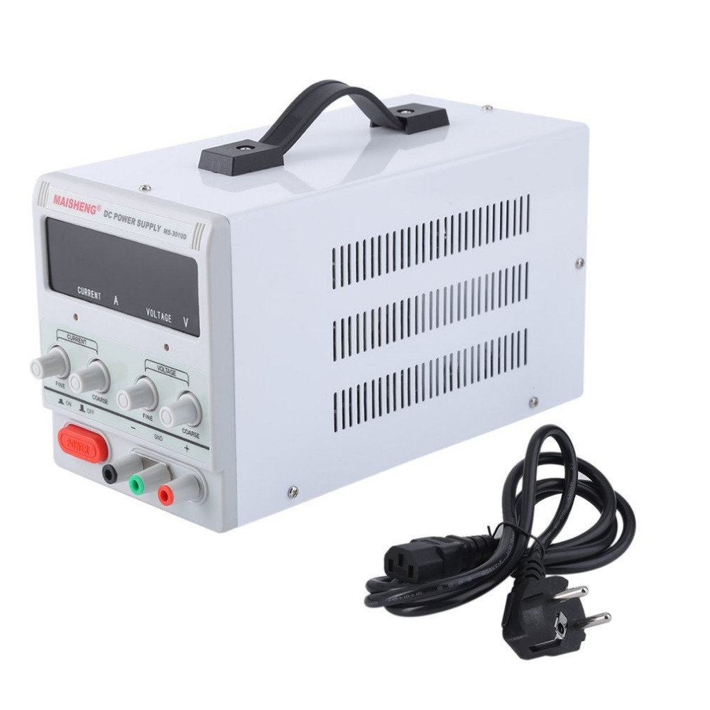 Test Repair Centre Dual Digital Display 30V 10A Lab Grade DC Power Supply High Precision Variable Adjustable For Factory EU Plug
