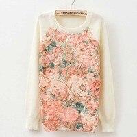 Rose Garden Uil Vogel Print Vrouwen Truien En Trui 2017 Herfst Winter Harajuku Modemerk Knitwear Trui Jas Plus Size