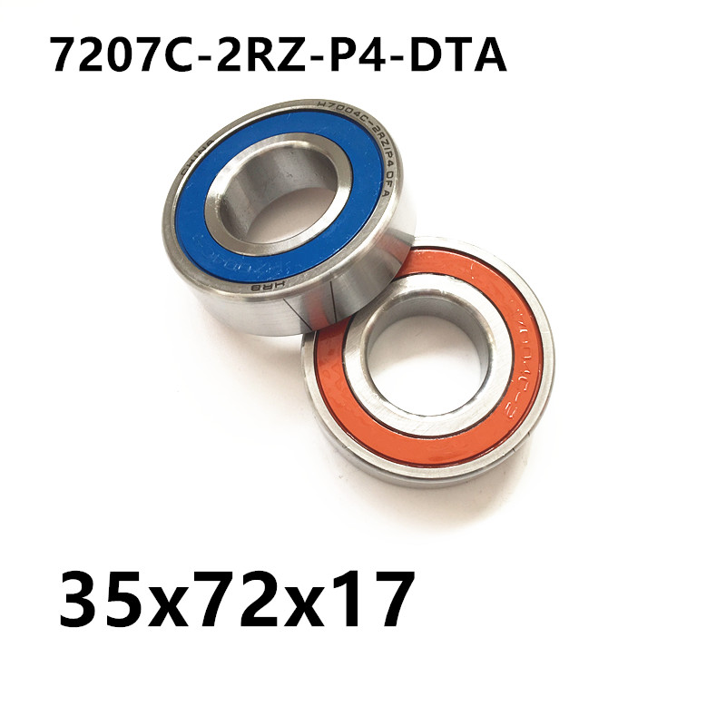 1 pair AXK  7207 7207C-2RZ-P4-DTA 35x72x17 Sealed Angular Contact Bearings Speed Spindle Bearings CNC ABEC 7 Engraving machine 1pcs 71901 71901cd p4 7901 12x24x6 mochu thin walled miniature angular contact bearings speed spindle bearings cnc abec 7