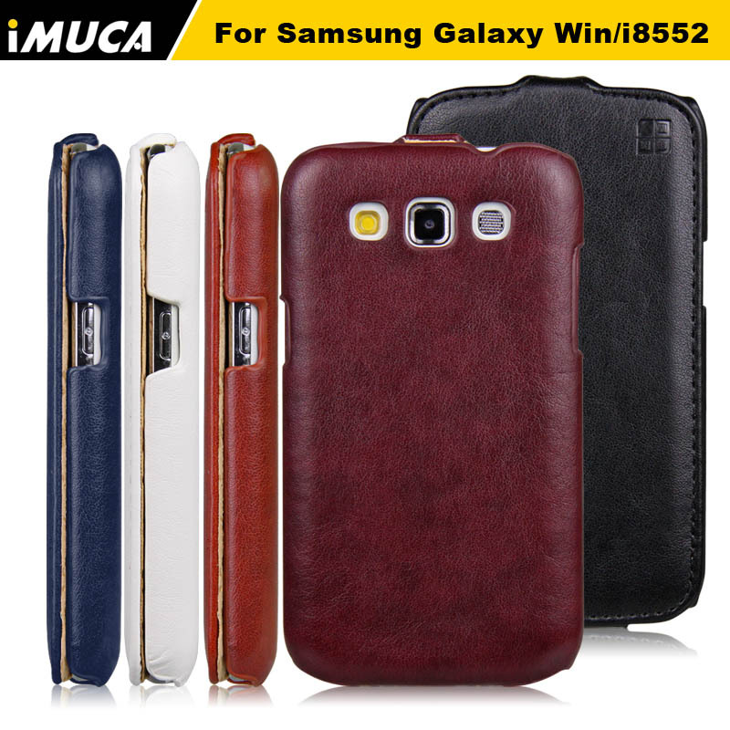 d3aab12541d iMUCA Case For Samsung Galaxy Win i8552 Case Leather Flip Case Hard Back  Cover For Samsung Galaxy Win Duos i8552 Phone Cases -in Flip Cases from  Cellphones ...