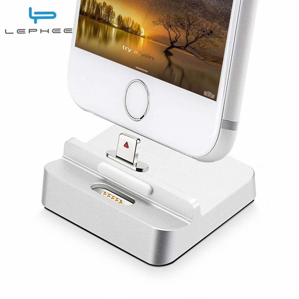 imágenes para Magnética Charging Dock Estación de Muelle Del Cargador de Escritorio USB Sync Adaptador teléfono móvil dispositivo de carga para iphone 5 6 6s 7 Plus