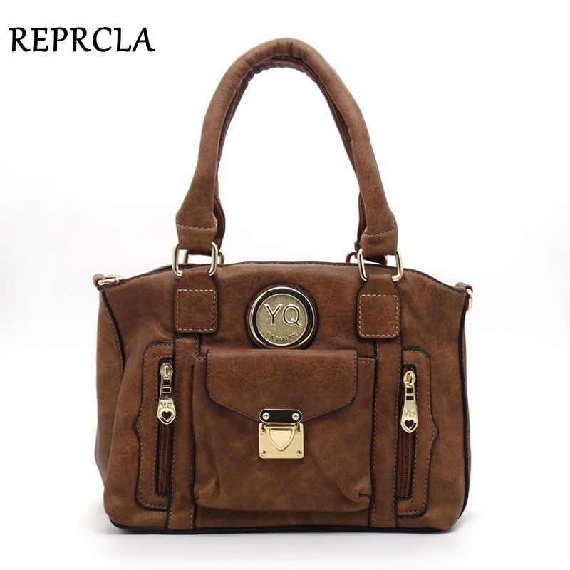 High Quality Luxury Handbags Women Bags Designer Shoulder Bag PU Leather Top-handle Tote Ladies Vintage Messenger Crossbody Bags tcttt luxury handbags women bags designer fashion women s leather shoulder bag high quality rivet brand crossbody messenger bag