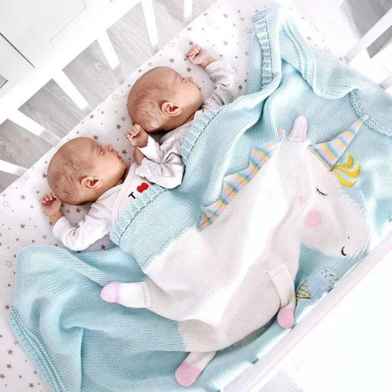 60*120 Cm Unicorn Blanket Plush Toy Knitting Summer Quilt Cape