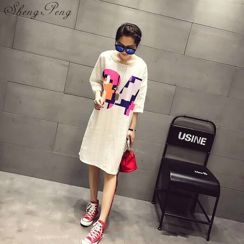 2018t shirt women female long harajuku shirt long sleeve women shirt summer style long cotton t shirt large size CC295 6