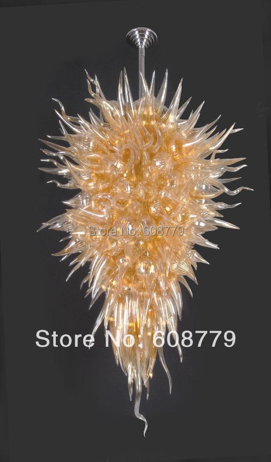 Big Hotel Lobby Hand Blown Glass Modern LED Chandelier For Sale in Chandeliers from Lights Lighting