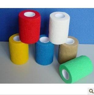 ФОТО Self-adhesive bandage wrist support football badminton basketball sports ankle support kneepad tape 10cm