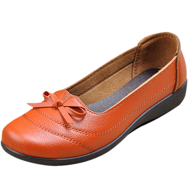b746928bcf 2016 Autumn Bowtie Shoes Women Ballet Flats Comfort Loafers Woman Casual  Mother Shoes Moccasins Sapatilhas Femininos EE127