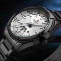 2016 NAVIFORCE Marca de Luxo dos homens Relógio de Quartzo Homens Esportes Relógios À Prova D' Água Completa aço Preto Relógios De Pulso relogio masculino