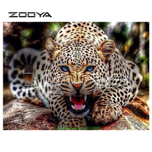 ZOOYA DIY Diamant Malerei Kreuzstich Kit 3D Sets Für Stickerei Diamant Stickerei Kreuzstich Handarbeit Leopard BB414