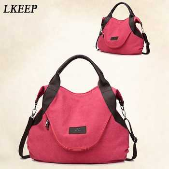 2019 Brand Large Pocket Casual Tote Women\'s Handbags Shoulder Handbags Canvas Capacity Bags For Women Messenger Bags women bag