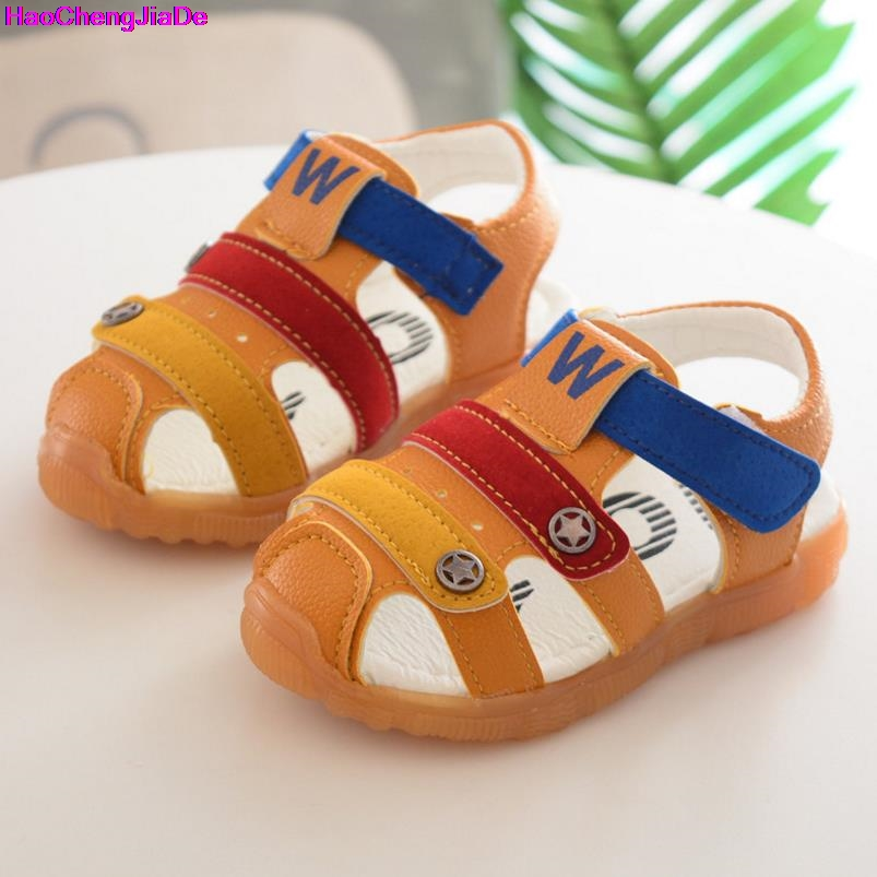 HaoChengJiaDe Spring Free shipping School Baby Boys Beach Sandals Sneaker Toddler Children Patchwork Casual Single Child Shoes