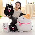 30-60cm Cute Fat Cat Plush Toys 3 Colors sitting cat cloth doll baby pillow aniamls stuffed plush doll kids Christmas present
