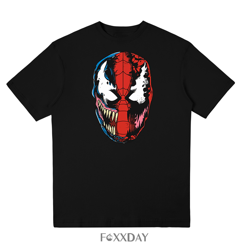 Film Spider-man 2018 Venom t-shirt Spider man Skull men t shirt Cool summer cotton Tee shirt Tops Street Hip Hop short sleeve