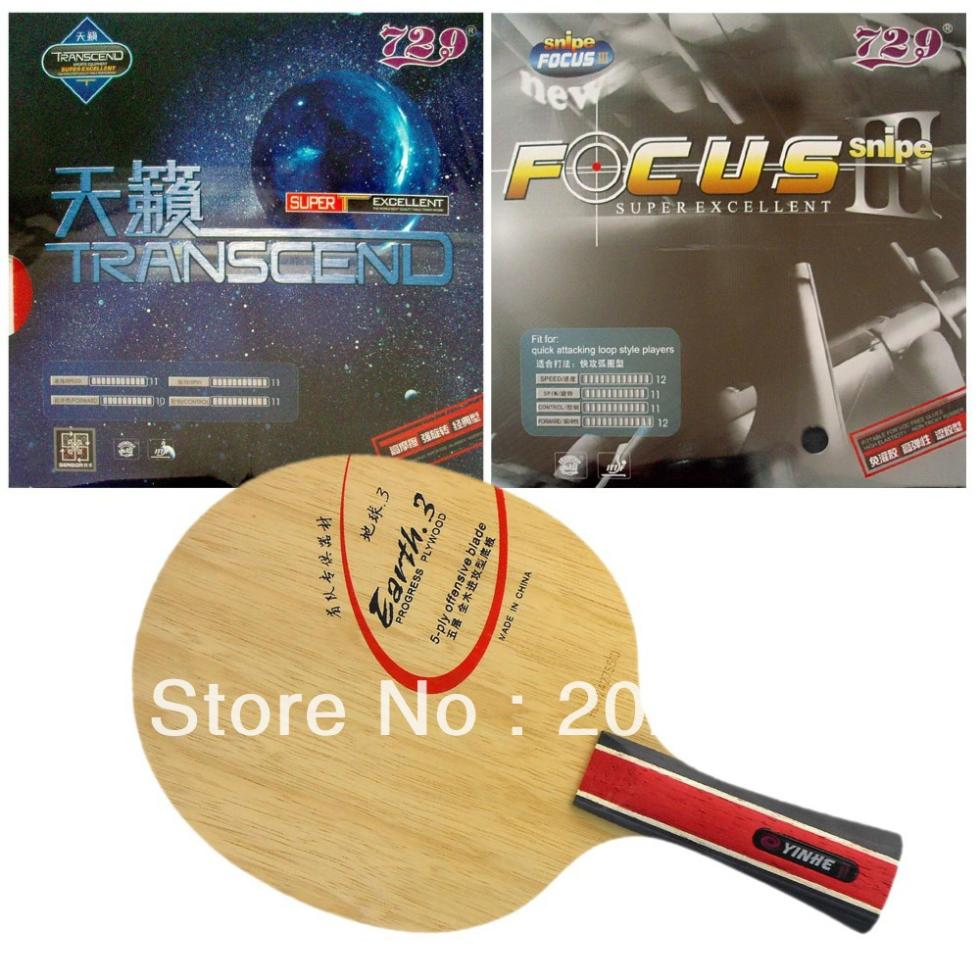 ФОТО Pro Table Tennis (PingPong) Combo Racket: Galaxy YINHE Earth 3 with 729 TRANSCEND CREAM and FOCUS III 2015 The new listing