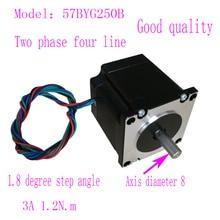 Хорошее качество Nema23 57 шаговый двигатель 57BYG250B 1.2N.m 3A двухфазный 4 провода шаговый двигатель с 8 мм осевым диаметром