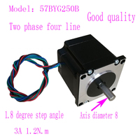 Good quality Nema23 57 step motor 57BYG250B 1.2N.m 3A Two phase 4 wires stepper motor with 8mm Axial diameter