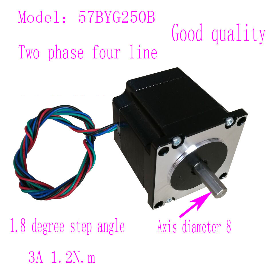Good quality Nema23 57 step motor 57BYG250B 1.2N.m 3A Two phase 4 wires stepper motor with 8mm Axial diameter usb charged 10 models super fast retractable fully automatic masturbator male masturbation machine sex products