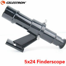 Best price CELESTRON 5×24 Finder Scope Optical Finderscope Holes Bracket Crosshair Finder View Telescope Monocular Astronomic Accessories