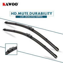 """KAWOO 2pcs Car Wiper Blade 26""""+17"""" For Peugeot 207 (2006 Onwards) Auto Soft Rubber Windcreen Wipers Blades Car Accessories"""
