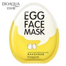 BIOAQUA, брендовая маска для лица с яйцами, увлажняющая, сужающаяся поры, осветляет отбеливающие маски для лица, Антивозрастная, косметическая, уход за кожей