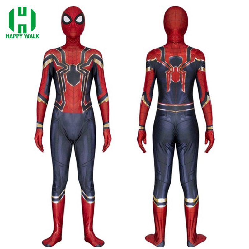 Wholesale 2018 Spiderman Costume Spiderman Homecoming Cosplay Costume Tom Holland Iron Spider Man Suit Halloween Cosplay Costume